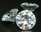 6.5mm Round CZ AAAAA White Cubic Zirconia Loose Stones Lot
