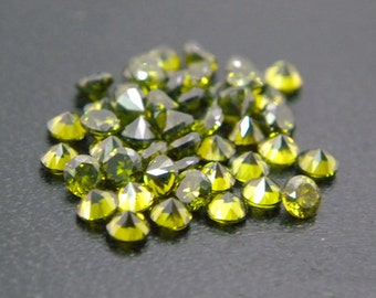 5mm Round CZ Olive Cubic Zirconia Loose Stones Lot