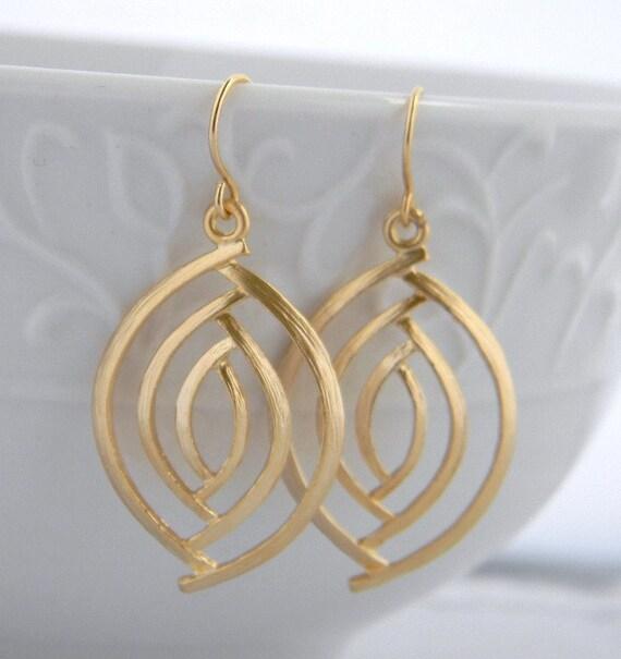 gold marquis dangle earrings etsy earrings gold almond