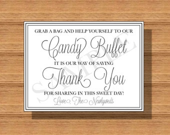Wedding Candy Buffet Sign DIY Print Ready