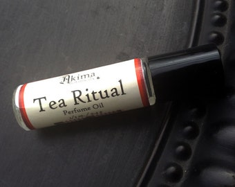 TEA RITUAL Premium Artisan Perfume Oil ~ white tea, bamboo, fig ~ Free from alcohol, parabens, preservatives ~ gift or travel