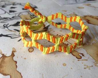 Double zig zag friendship bracelet