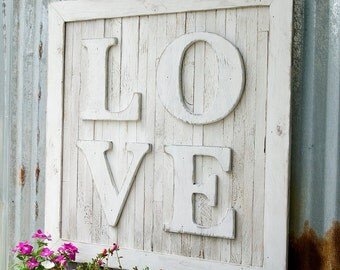 Pallet LOVE Sign Letters Oversize Wedding Nursery Wall Art