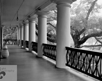 8x10 Oak Alley Plantation Balcony