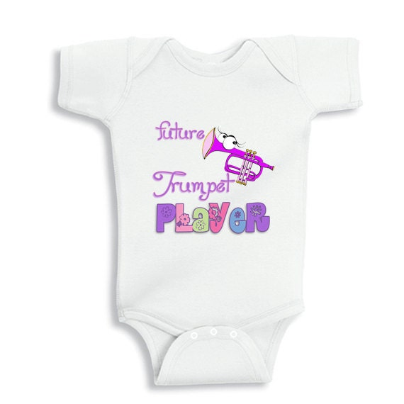 Future trumpet player - Personalized baby bodysuit