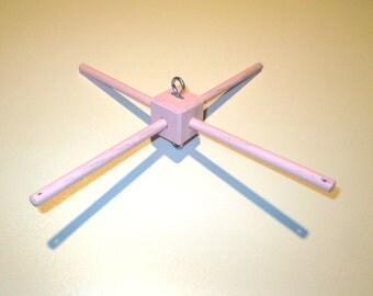 Oak Hanger for Crib Mobile -  Custom Colors - Cross Bars - 12 inches long - Customizable