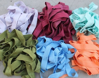 Fold over elastic  6  colors 2 yards  of each color 5/8 inch wide