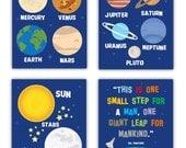 Solar System Art Prints // Planets Nursery Decor // Planets Wall Art Prints // Planets Nursery Room Art // Outer Space Decor// PRINTS ONLY
