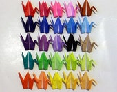 "100 3"" Origami paper cranes in multi colors wedding party decoration Christmas Tree Ornament Decoration small quantity"