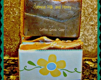 Natural Goat Milk Bath Soap Oatmeal Milk and  Honey