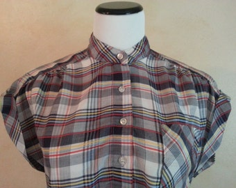Vintage 50s Plaid Country Chic T-Shirt