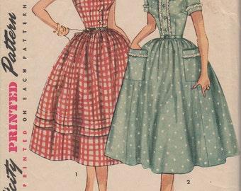 1950's Misses' Dress Simplicity 4641 Size 14 Bust 32