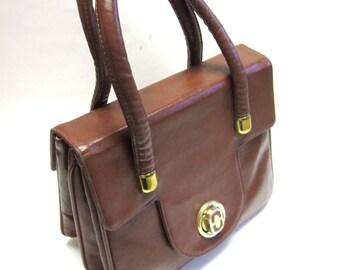 Brown Leather Firmside Purse Hardside Handbag Bags By Francois California Organizer