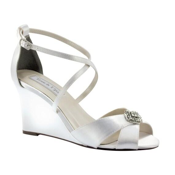 Wedding Shoes 3 Inch Wedge Custom Shoes For Kimberlee Otis