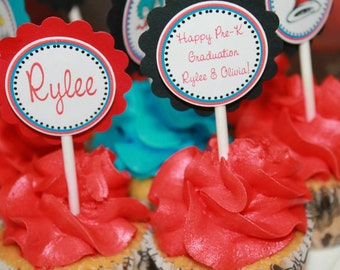 Dr.Seuss Inspired Cupcake Toppers