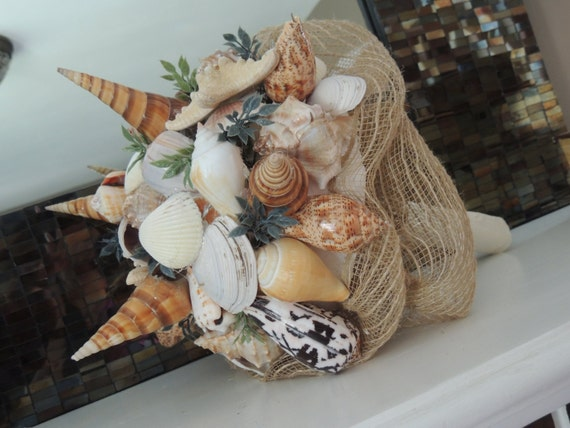 Genuine Seashell Bouquet - Beach Wedding Bouquet