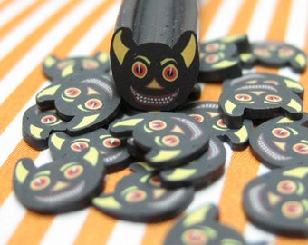 Halloween polymer clay cane gargoyle bat uncut 1pc for kawaii deco decoden and nail supplies