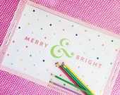 Pencil Shavings Studio Merry & Bright Christmas Lucite Tray