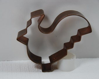 Vintage Solid Copper Rooster Cookie Cutter