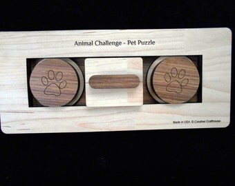 Pet Challenge Puzzle - Dog or Cat Treat Feeder Puzzle size large for large sized dogs