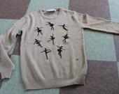 Shirlee Cyn Les Vintage Ballet Nutcracker Theater Arts Sweater Romeo Juliet Swan Lake Coppelia