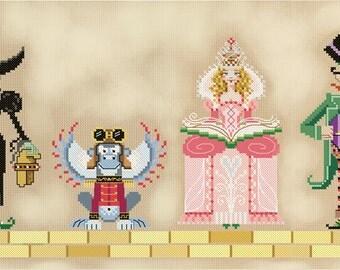 PDF Wizard of Oz Part 2 : cross stitch patterns Brooke's Books fairy tale e-pattern instant download
