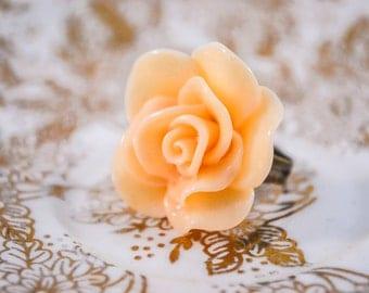 Large Rose Ring- Peach