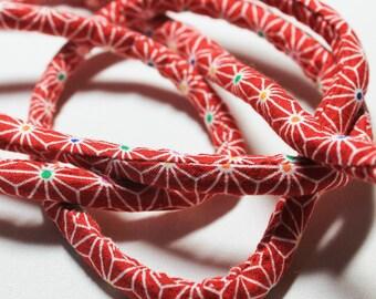 Japanese Chirimen Kimono fabric cord c122