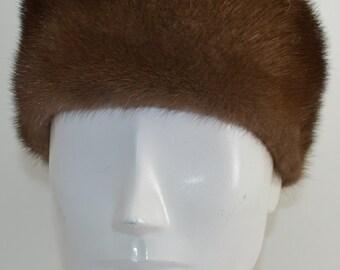 Demibuff Mink Fur Headband new made in the USA demi buff