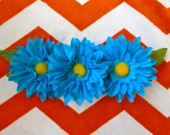 Flower Necklace - Blue Daisy Statement Necklace
