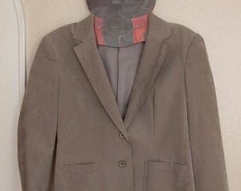 Ultra Suede grey 70s blazer
