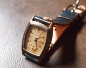Vintage Retro Handcraft Watch with Leather Band /// MinetoroM - Perfect Gift for Birthday and Anniversary