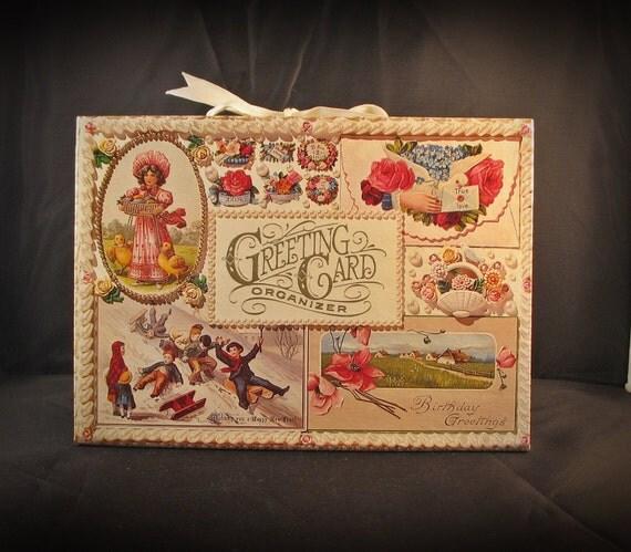Hallmark Wedding Album: Vintage Hallmark Greeting Card Album Organizer By