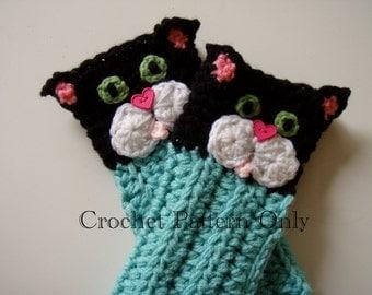 Crochet Kitty Cat LEGWARMERS Pattern PDF