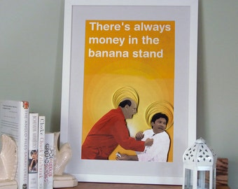 Arrested Development poster, There's Always Money in the Banana Stand Print, Michael Bluth and George Bluth Sr., paper art print