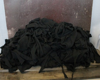 Cashmere Recycled Remnants Remnants - Black 5lbs for DIY Crafts