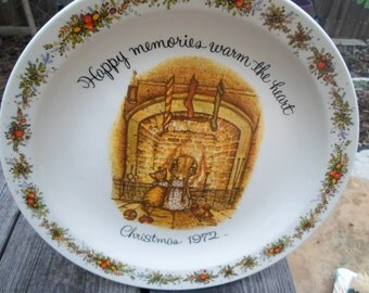 Christmas Plate 1972 Holly Hobbie Commemorative