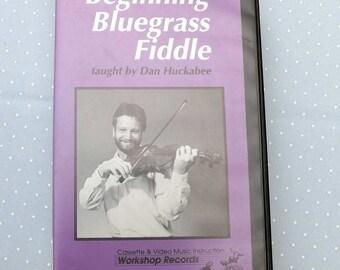 Instructional Video Beginning Bluegrass Fiddle Dan Huckabee VHS