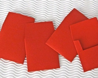 24 teeny tiny miniature square orange envelope mini note sets stationery party favors weddings guest book table number love note tooth fairy
