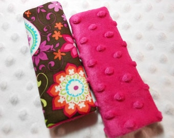 Paisley Spree Infant/Toddler Reversible Car Seat Strap Covers (Choice of minky)