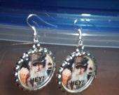 Si Robertson Bottlecap earrings