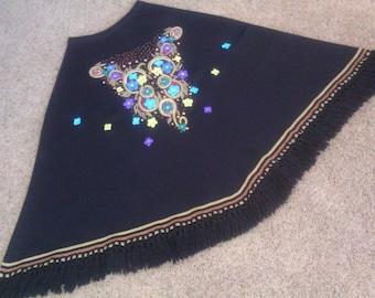 Winter Skirt /  Hand Embroidered Skirt / Mountain Girl