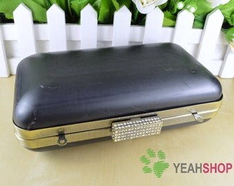 Rectangle Dressing Case Purse Frame - Rectangle Rhinestone - 17.5cm x 10cm (PDC6)
