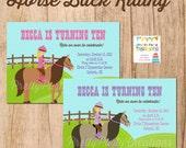 HORSE BACK RIDING invitation - You Print