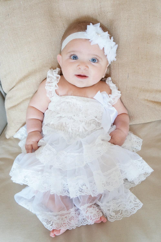 Lace baptism Dress White Baptism Dress by PoshPeanutKids ...