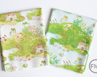Fat Quarter Bundle Briar Rose Frog Pond, 2 Pieces, Heather Ross, Windham Fabrics, 100% Cotton Fabric, 37022
