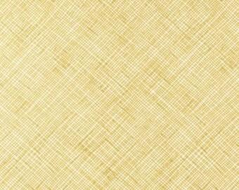 Half Yard Architextures Crosshatch in Curry, Carolyn Friedlander, Robert Kaufman Fabrics, 100% Cotton Fabric, AFR-13503-291 CURRY