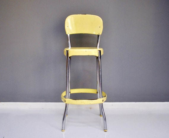 Vintage Cosco Stool Pale Yellow By Thewhitepepper On Etsy