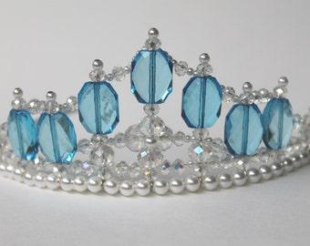 Pretty Blue Princess Crystal Tiara