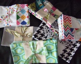 Single Burp Cloth, Customize Burp Cloth of your choice, E & LuLu